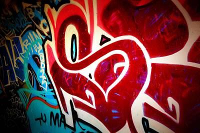 Splashy Photograph - Graffiti Art 52 by Cindy Nunn