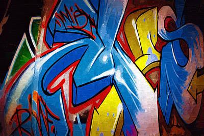 Splashy Photograph - Graffiti Art 53 by Cindy Nunn