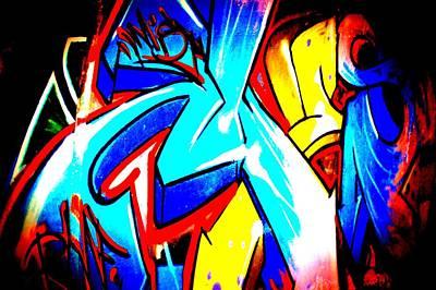 Splashy Photograph - Graffiti Art 54 by Cindy Nunn