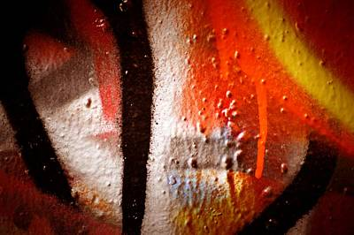 Splashy Photograph - Graffiti Art 57 by Cindy Nunn