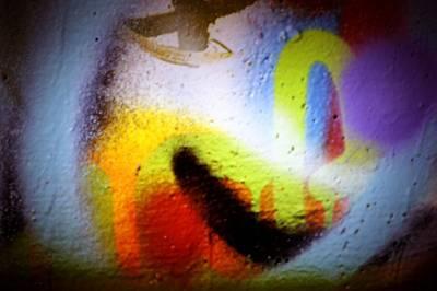 Splashy Photograph - Graffiti Art 60 by Cindy Nunn