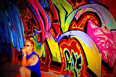 Splashy Photograph - Graffiti Art 61 by Cindy Nunn