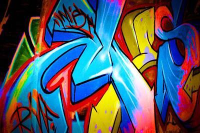 Splashy Photograph - Graffiti Art 64 by Cindy Nunn
