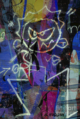 Photograph - graffiti art cities photograph - Urban Blues by Sharon Hudson