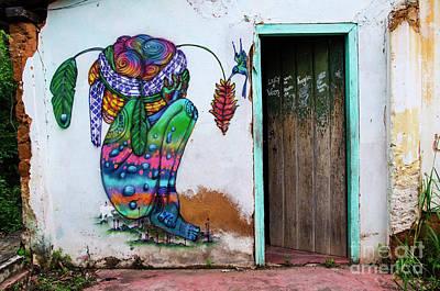 Photograph - Graffiti Art Lencois Brazil 2 by Bob Christopher