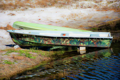Photograph - Graffiti Art On A Fishing Boat by Gina O'Brien