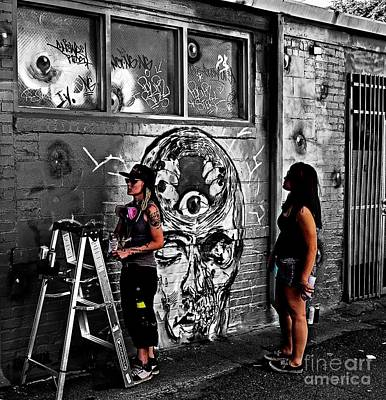 Photograph - Graffiti Artists by Steven Parker
