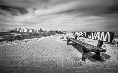 Photograph - Graffiti Bench. by Gary Gillette