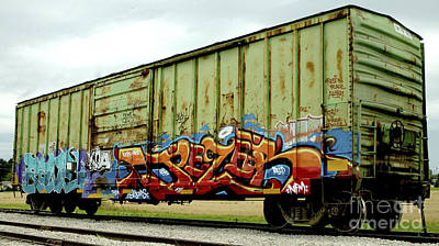 Photograph - Graffiti Boxcar by Danielle Allard