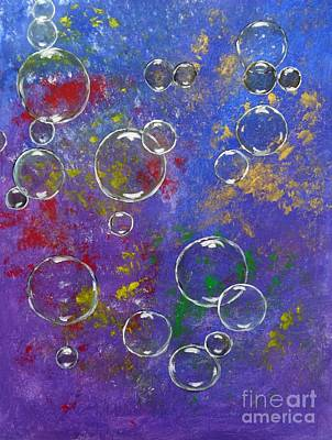 Painting - Graffiti Bubbles by Karen Jane Jones