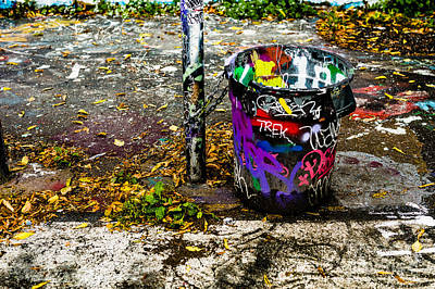 Photograph - Graffiti Can by M G Whittingham