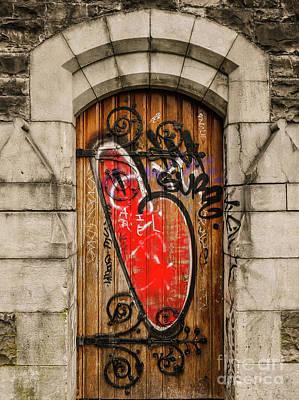 Photograph - Graffiti Church Door by Lexa Harpell