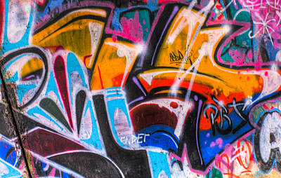 Abstract Photograph - Graffiti Close Up 3 by Jacob Brewer