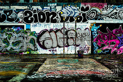 Photograph - Graffiti Court by M G Whittingham
