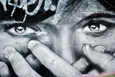 Graffiti Eyes Art Print