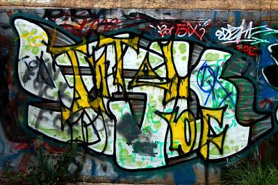 Graffiti Fort Armistead Baltimore Maryland Art Print by Wayne Higgs