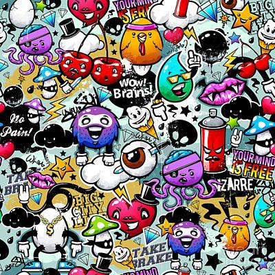 Caricature Painting - Graffiti Fun by Mark Ashkenazi
