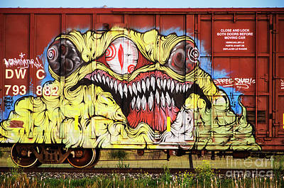 Spray Paint Cans Photograph - Graffiti Genius 7 by Bob Christopher