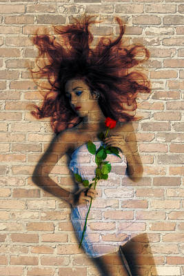 Photograph - Graffiti Girl by Digital Art Cafe
