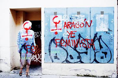 Photograph - Graffiti Girl by Jean Gill