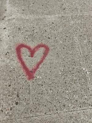 Photograph - Graffiti Heart by Jamart Photography