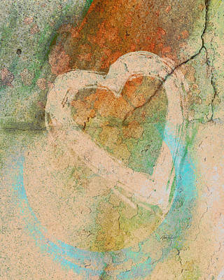Photograph - Graffiti Heart - Photography by Ann Powell