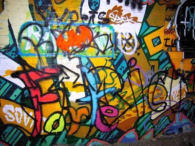 Graffiti In A Baltimore Alley Art Print by Don Struke