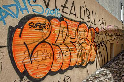 Photograph - Graffiti In The Alley #2 - Slovenia by Stuart Litoff