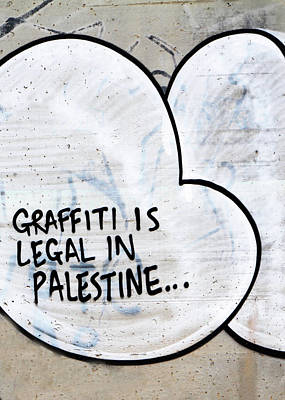 Photograph - Graffiti Is Legal by Munir Alawi