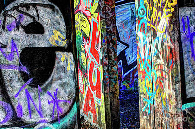 Photograph - Graffiti Mosaic by Terry Rowe