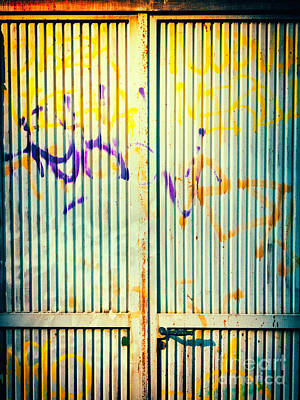 Photograph - Graffiti On Iron Door by Silvia Ganora