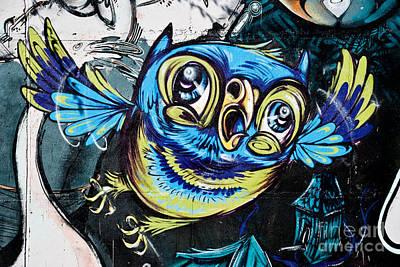 Graffiti Owl Art Print