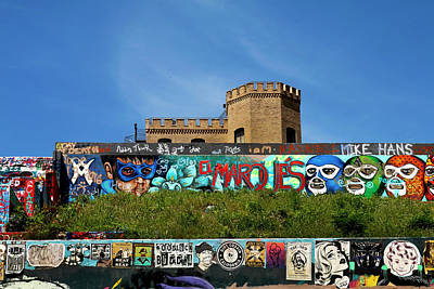 Photograph - Graffiti Park At Castle Hill - Austin by Art Block Collections