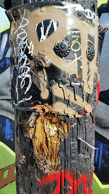 Photograph - Graffiti Pole by Zac AlleyWalker Lowing