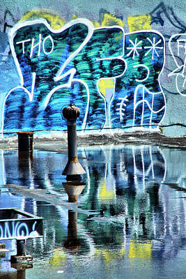 Photograph - Graffiti Reflections by Cate Franklyn