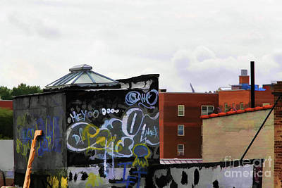 Photograph - Graffiti Roof Top New York City  by Chuck Kuhn