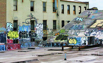Photograph - Graffiti Roof Tops Ny  by Chuck Kuhn