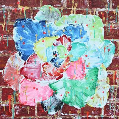 Painting - Graffiti Rose by Aliya Michelle