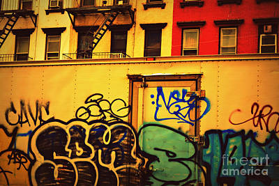 Photograph - Graffiti Row by Miriam Danar