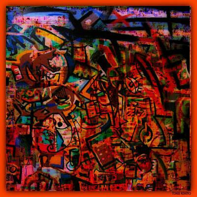 Ruff Digital Art - Graffiti Ruff Station #909 by Tony Adamo