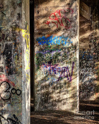 Photograph - Graffiti Shadows by Terry Rowe