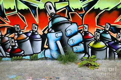 Hop Photograph - Graffiti Spray Cans by Richard Thomas