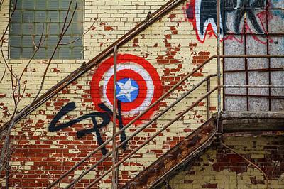 Photograph - Graffiti Stairs by Steven Bateson