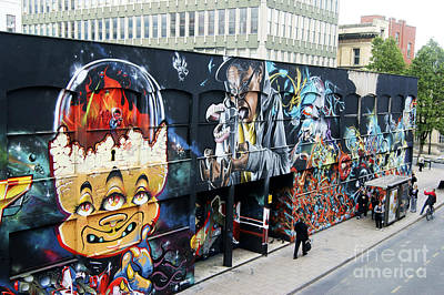 Photograph - Graffiti Street by David Birchall