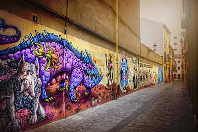 Wall Mural Photograph - Graffiti Street In Valencia Spain  by Carol Japp