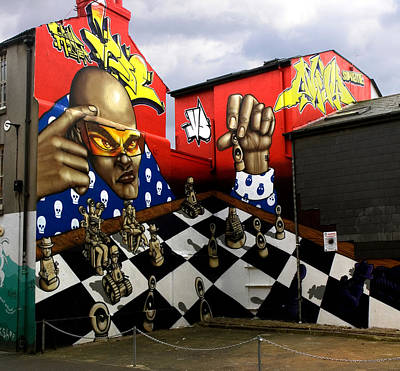 Spray Can Painting - Graffiti. The Chess Player. by Mike Lester