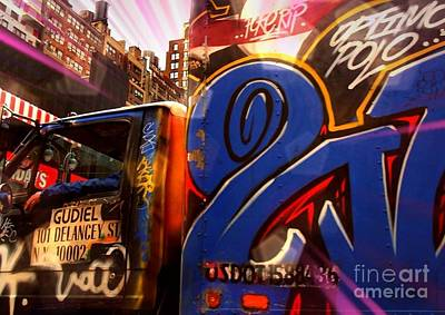 Photograph - Graffiti Truck - N Y C Street Art by Miriam Danar