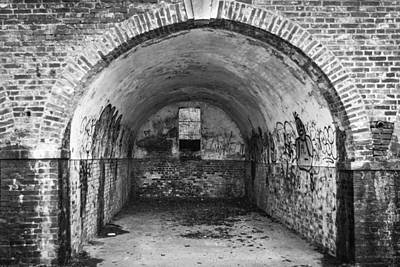Window Bars Photograph - Graffiti Tunnel by Chris Dale