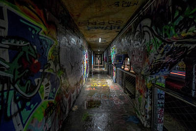 Photograph - Graffiti Tunnel by Mike Dunn