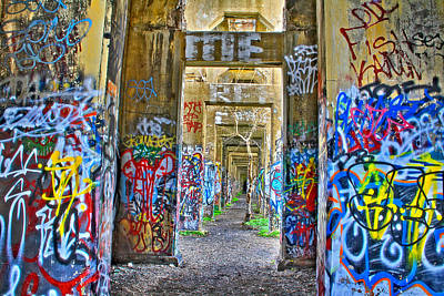 Grafiti Bridge To Nowhere Art Print by Alice Gipson